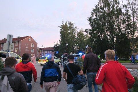 Onkel viste oss også rundt i hele Lillestrøm på veien ned til jernbanen.