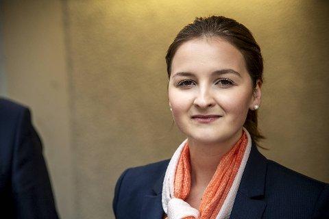 Marte Monstad ble valgt som gruppeleder i Frp torsdag. Over nyttår kan hun bli byttet ut igjen.