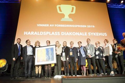 Haraldsplass vant Forbedringsprisen. Den ble utdelt fredag ettermiddag.