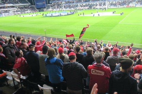 Vel 450 Brann-supportere hadde tatt turen til forventet selvpining.