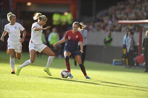 Caroline Graham Hansen sikret Norge ledelsen i sluttminuttene.