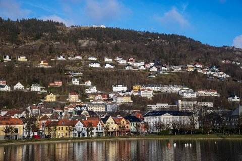 Liten nedgang i Bergen, viser fersk boligstatistikk.