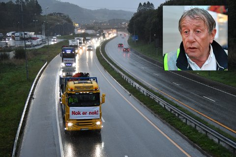 Det blei ikkje store trafikale problem under onsdagens bomaksjon. Willy Padøy innfelt er fornøgd med aksjonen.