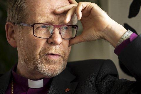 Biskop Halvor Nordhaug hjemme i bispeboligen på Landås.