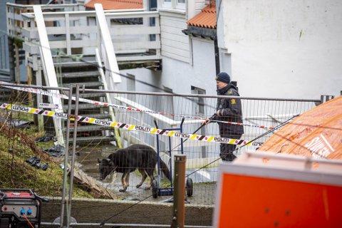 Fredag ble en mann i 30-årene pågrepet i forbindelse med dobbeltdrapet. Politiet tror drapet skjedde i dette området i Møllendalsveien.