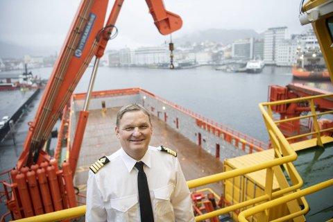 Viking Energys kaptein, Ulf Frisk, ser frem til å teste ut ammoniakk som drivstoff.