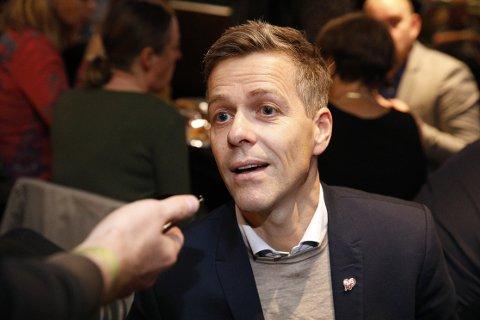 Knut Arild Hareide under valgvaken til KrF på Røverstaden i Oslo.