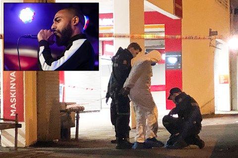 Said Bassam Chataya (innfelt) ble drept på Circle K Viken fredag 15. februar i fjor. Hans 22 år gamle fetter ble arrestert på stedet og iført en hvit kjeledress.