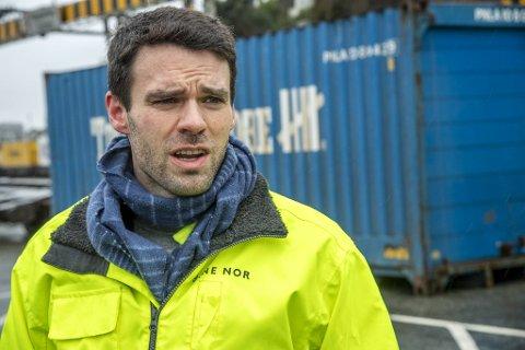 Prosjektsjef Eivind Farestveit Larsen forklarer BA hvilke grep Bane Nor har tenkt å gjøre på Nygårdstangen.