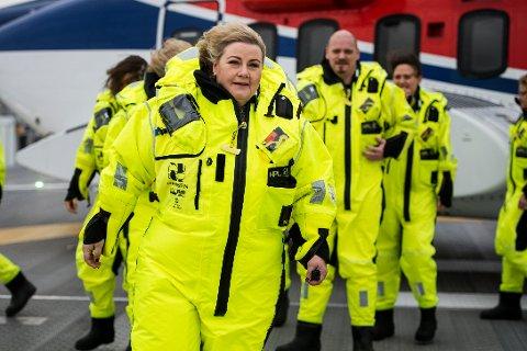 Statsminister Erna Solberg (H) deltok tirsdag under den offisielle åpningen av Johan Sverdrup-feltet i Nordsjøen.