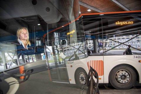 Tide-sjåfør Maylinn Halkidis er blant bussjåførene som har streiket. Bedre lønn og bedre tid til klargjøring av bussene har vært de viktigste sakene for henne i dette oppgjøret.