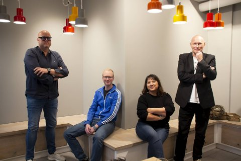 Kunstnerne Christer Bergene, Øystein Dybedal, Sandra Bratland og Tom Bognø skal stille ut på Fløyen de neste månedene.