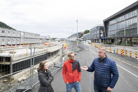EIrik Skare, Leni Skotte og Runar Brøste er med i Leaparken velforening, som fungerer som en slags interesseorganisasjon for området fra Solheimsvatnnet til Minde allé.