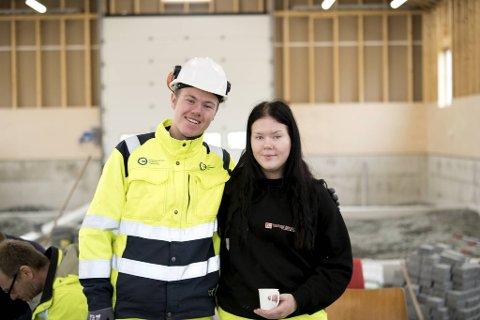 Daniel Sunde og Emma Weberg Kaldestad får trolig flust av tilbud om læreplass som anleggsgartnere.