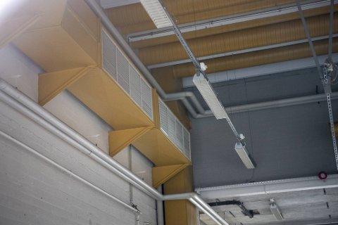Deler av ventilasjonskanalnettet på teststasjonen.