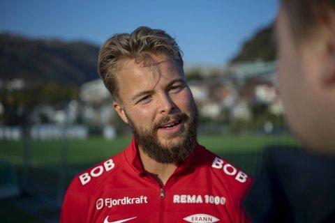 Sander Svendsen starter sin første Brann-kamp.