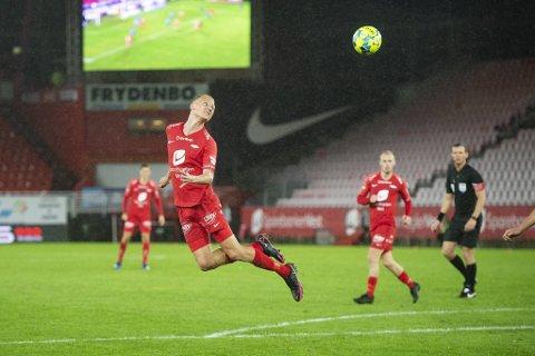 Kristoffer Barmen headet inn 1-1 mot Stabæk. Den scoringen kan fort være gull verdt.