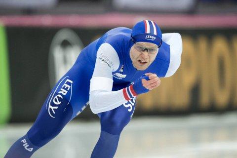 Håvard Lorentzen gjorde som han ville, og vant søndagen 1000-meter i Vikingskipet.