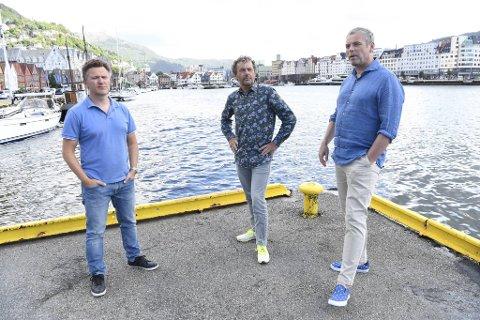Arild Mjøs Andersen (president i Norges Triatlonforbund), Geir Iden (leder i Åsane CK) og Trond Ahlsen (medlem i Bergen Triathlon Club og TV 2s prosjektleder under sykkel-VM i 2017) trenger offentlige midler for å kunne gjennomføre et verdenscup-løp i Bergen sentrum.