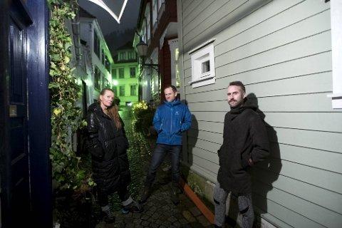 Tyra Vaagland, Pål Ellingsen (midten) og Bjørgvin Gunnarson bor i de utsatte Stølestrøkene, hvor de årlig får vann inn i kjellerne sine.