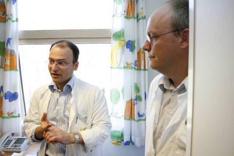 Klinikkdirektør Ansgar Berg (t.v.)