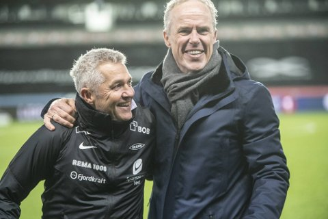Kåre Ingebrigtsen og sportssjef Rune Soltvedt var høyt oppe etter seieren på Lerkendal. – Dette gir hele klubben et løft, sier Ingebrigtsen dagen derpå.