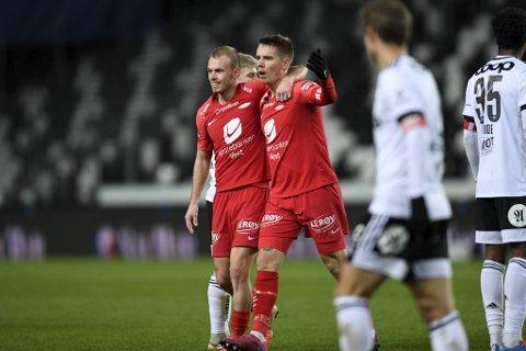 Robert Taylor og Petter Strand var gode mot Rosenborg, og er naturligvis med fra start mot Aalesund.
