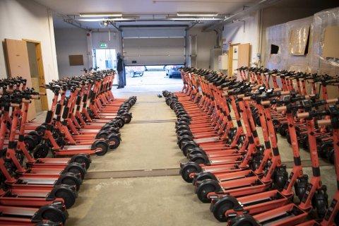 Operatøren Voi har skaffet seg lagerplass på Kronstad og skal drifte mellom 350 og 400 el-løperhjul i Bergen sentrum.