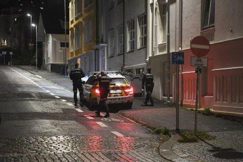 Politiet hadde en rolig natt til lørdag. Dette bildet ble tatt i en annen forbindelse for to uker siden.