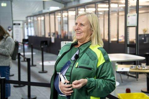 Sjef for Bergen legevakt, Dagrun Linchausen, gleder seg forsiktig over at det lørdag ble registrert kun to smittede i Bergen.
