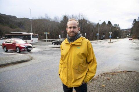 Even Sørland, leder i Åsane Ap, vil ha Bybanen i tunnel, med stopp ved Tertneskrysset.