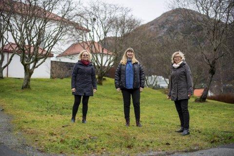 May-Britt Meyer (1961), Askøy, Evy Krossøy (1969), Sotra, og Kirsten Furheim (1955), Litlesotra