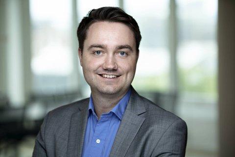 Kredinor, som er stor innen bank- og energisektoren, har færre inkassosaker, ifølge kommersiell direktør Audun Rønningen Danielsen.