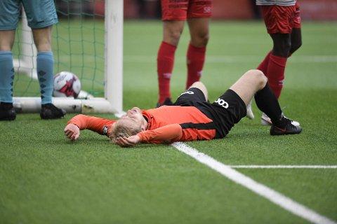 Det var tungt for Åsane-spillerne etter kampen.