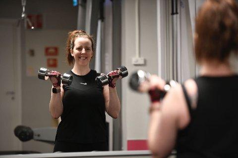 Oda Fagnastøl (34) har en imponerende treningsvilje. Her er hun i gang igjen etter at treningsentrene har vært korona-stengt.