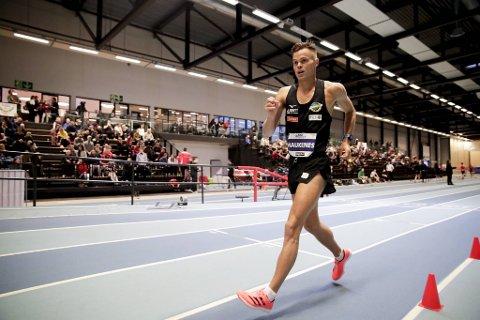 Håvard Haukenes vant et enkelt NM-gull i kappgang lørdag.