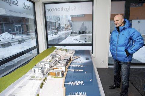 Ole Kleppe, direktør for eiendomsutvikling for BOB, forteller at de ønsker å skape mangfold og liv i Damsgårdssundet.