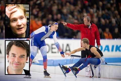 Håvard Lorentzen (til høyre) innser at han ikke lenger kan tukte Pavel Kulizjnikov. Innfelt: Sverre Lunde Pedersen (øverst), som Even Wetten ikke har tro på.