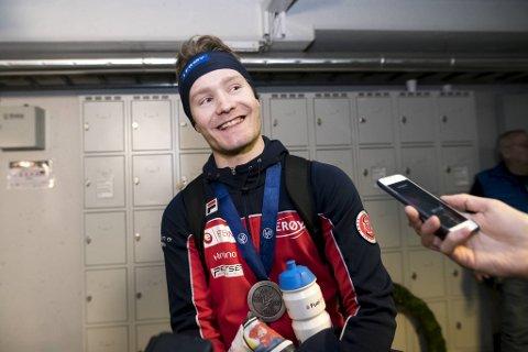 Sverre Lunde Pedersen med VM-sølvet.