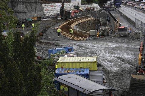 Det er ikke bare Bybane-utbyggingen mot Fyllingsdalen som sliter.