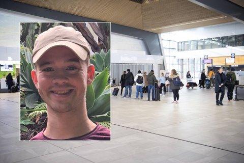 Magnus Nitter forteller om informasjonskaos under en flyning fra London til Flesland.