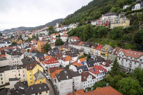 Boligprisene sank med 0,2 prosent i Bergen i februar.