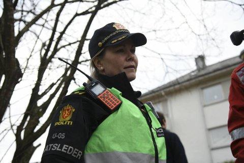 Innsatsleder i politiet, Tordis Myrseth.