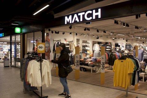 Match er en av butikkene som har åpnet igjen på Laksevåg Senter.