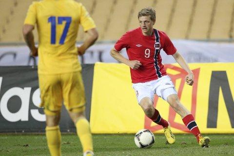 Erik Huseklepp er en av svært få bergensere på det norske A-landslaget i fotball de siste tiårene. Her fra en landskamp mot Ukraina i 2013.
