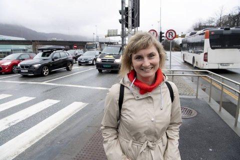 Fylkespolitiker Marthe Hammer i SV mener dette er en gylden anledning til å sette fart i sykkelutbyggingen.
