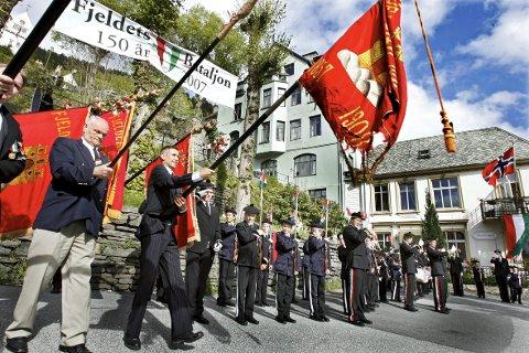 Fjeldets Bataljon feiret 150 år med en storslått fest på stiftelsesdagen 22. mai 2007.