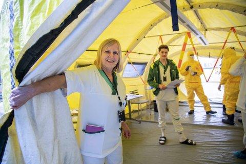 Legevaktsjef Dagrun Waag Linchausen sier de har god testkapasitet på legevakten for tiden.