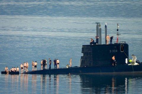 Det ble en noe uvanlig dag for ubåtmannskapet.