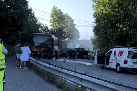 En sjåfør på samme linje ankom åstedet kort tid etter ulykken.